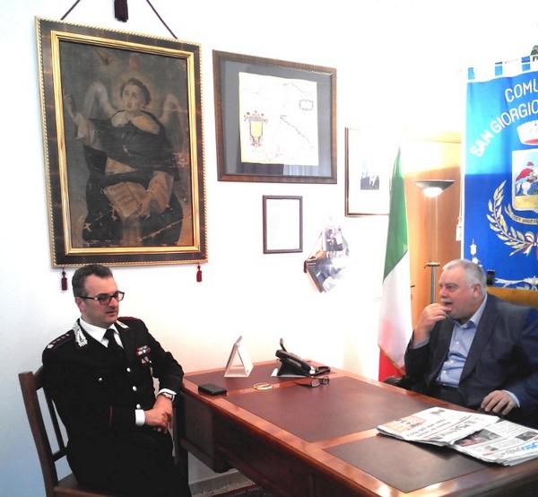 Il Sindaco Ricci riceve il nuovo Comandante dei Carabinieri, Pasquale Vasaturo