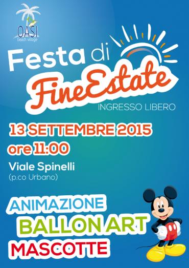 Festa di fine estate 13 settembre – viale Spinelli ore 11.00