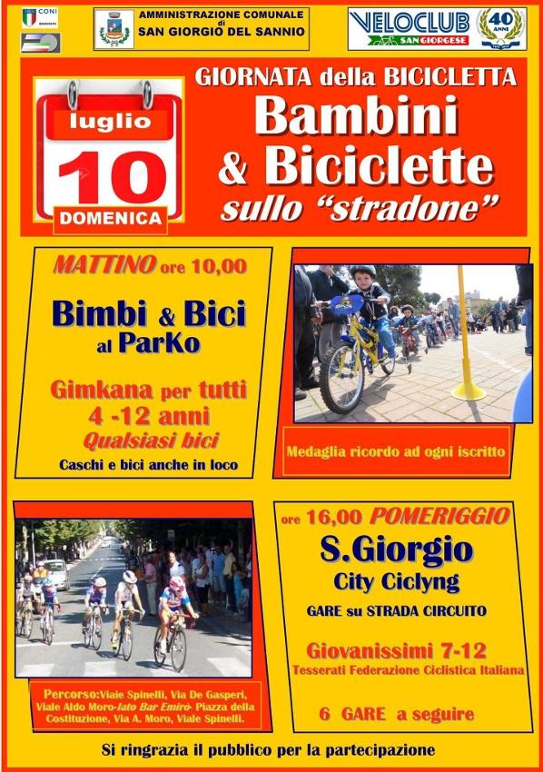 Domenica 10 luglio giornata della bicicletta: bambini e biciclette su viale Spinelli