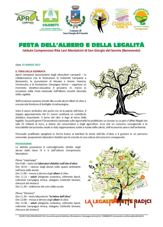 Festa dell'albero e della legalità