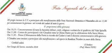 Festa Nazionale del 4 novembre