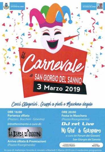 Il Carnevale a San Giorgio del Sannio