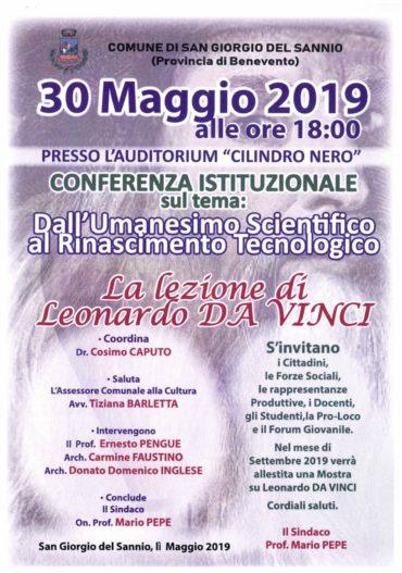 """Conferenza istituzionale """"dall'Umanesimo scientifico al Rinascimento tecnologico"""