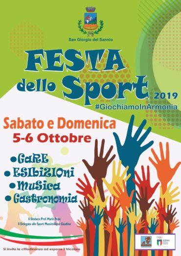 Programma Festa dello Sport 2019 – 5 e 6 ottobre 2019