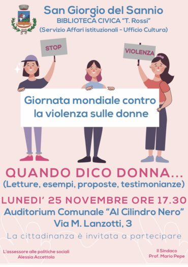 Giornata mondiale contro la violenza sulle donne