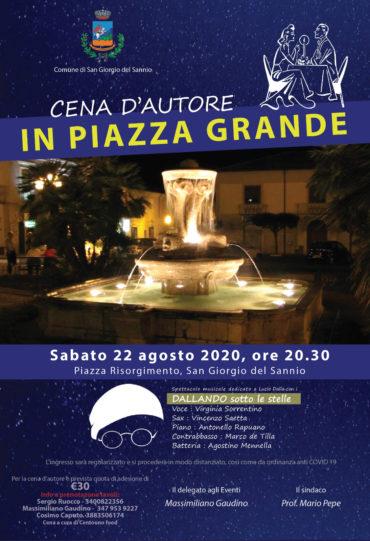 Cena d'autore in Piazza Grande