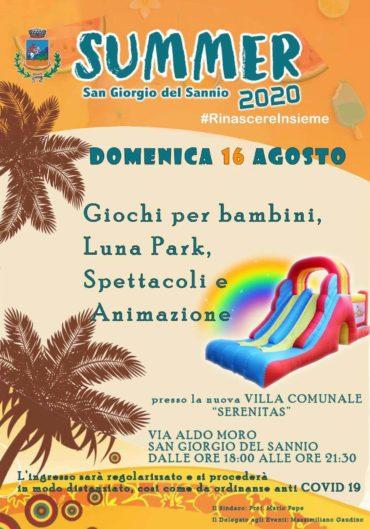 Summer 2020 – Domenica 16 agosto